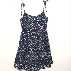 J. Crew navy sundress with colorful dots Size 4